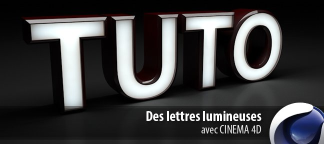 Des lettres lumineuses