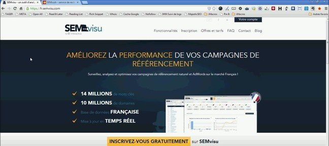 Tuto Test de SEMvisu Referencement SEO