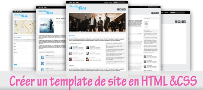 Créer un Template d'un Blog en HTML & CSS de A a Z HTML