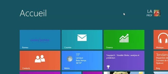 Les objets de Windows 8