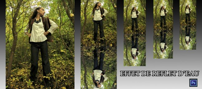 Tuto cr ez un effet de reflet d 39 eau avec photoshop cs6 sur for Effet miroir photoshop