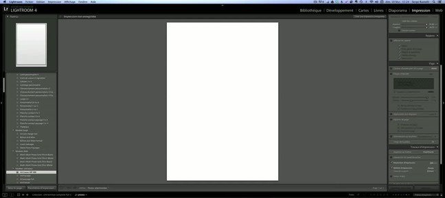 Tuto Impression une page Lightroom