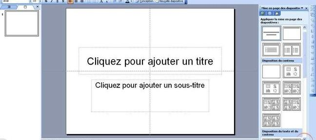 Tuto Réalisation d'un masque simple de diapositive PowerPoint