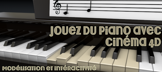 Modélisez un piano en 3D interactif Cinema 4D