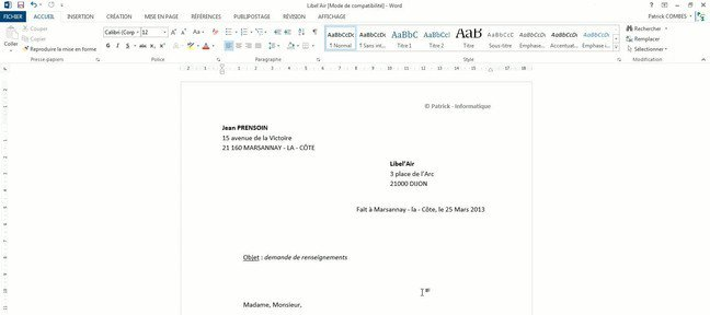 Tuto Créer un document pdf Word