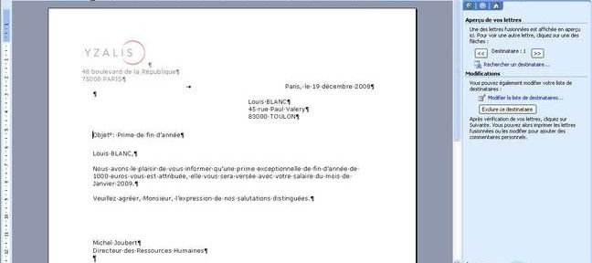 Tuto Fusionner les documents Word