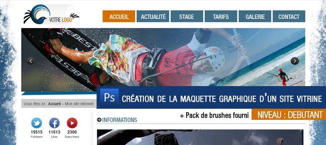 tuto gratuit   cr u00e9er son cv one page en ligne   avec photoshop cc sur tuto com