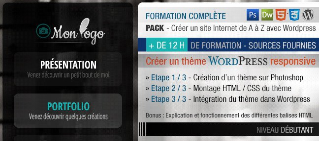 Tuto Pack - Votre site Internet Responsive avec Wordpress WordPress