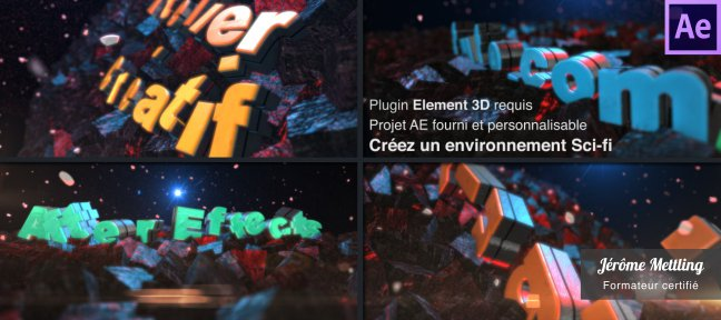 Tuto Atelier Motion Design : Texte 3D et Univers Sci-fi After Effects