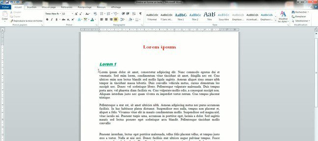 tuto mettre en forme une lettre avec word 2007 avec word 2007 sur. Black Bedroom Furniture Sets. Home Design Ideas