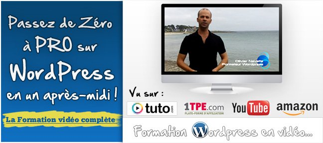 Tuto Formation Wordpress pour débutants WordPress