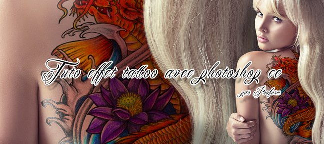 Effet tattoo Photoshop