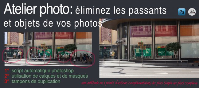 Atelier Photo : éliminez les passants de vos photos