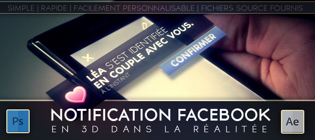 Tuto Notification Facebook en 3D After Effects