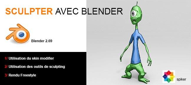 Tuto Bender : sculpter un personnage cartoon Blender