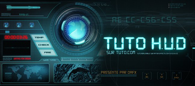 Tuto Interface H.U.D avec After Effects After Effects
