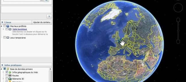 Google Earth : la navigation et l'ajout d'informations
