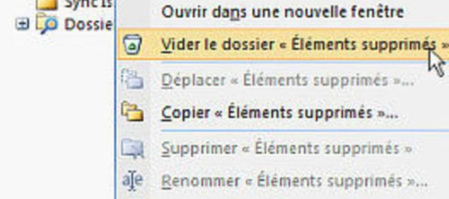 Tuto Suppression des éléments Outlook