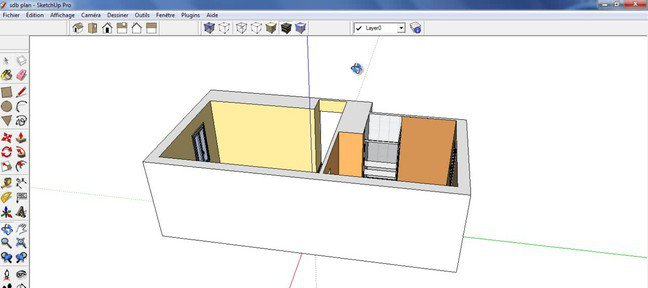 tuto d tourer une image dans sketchup avec sketchup 8 sur. Black Bedroom Furniture Sets. Home Design Ideas