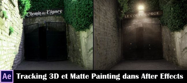 Tracking 3D et Matte Painting dans After Effects