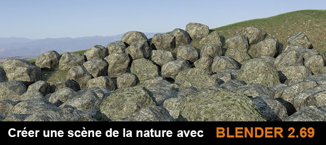 Tuto Blender : scène nature Rochers Blender