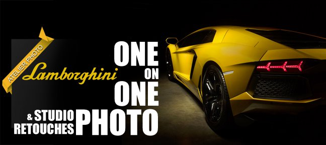 Atelier photo et retouche : Shooting Lamborghini Aventador