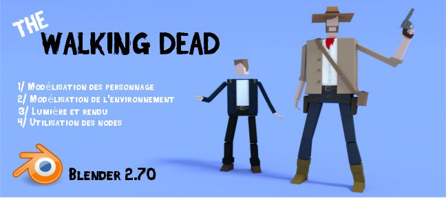 Tuto Tuto blender : low polygon walking dead Blender
