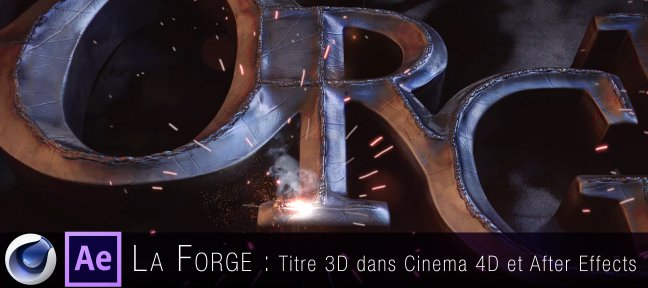 Tuto Titre motion design avancé Cinema 4D