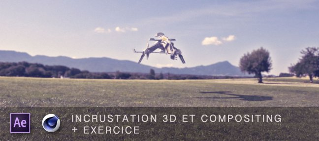 Incrustation 3D et compositing dans After Effects