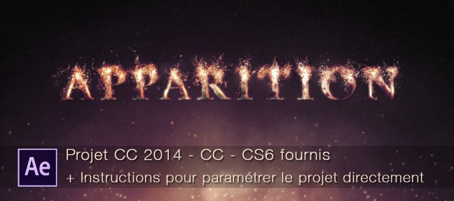 After Effects : apparition de texte en particules