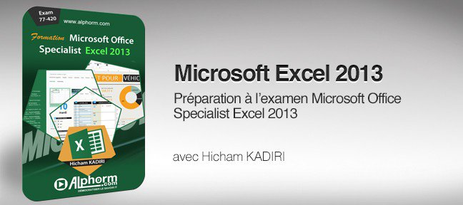 Tuto Formation Excel 2013 certification Microsoft Office Specialist Excel