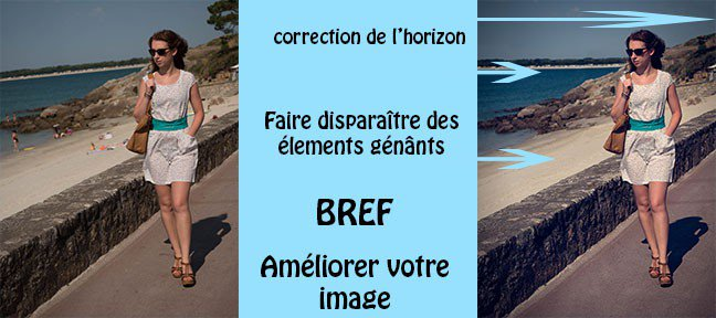 Tuto Gestion de l'horizon et d'éléments génânts Photoshop