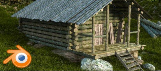 Tuto blender cr er d 39 une cabane en bois avec blender 2 7 sur - Acheter une cabane en bois ...