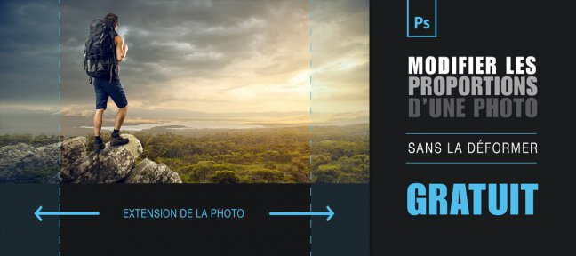 Tuto Gratuit Photoshop : modifier les proportions de vos photos sans la déformer Photoshop