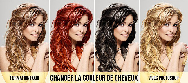 tuto photoshop changer la couleur des cheveux avec. Black Bedroom Furniture Sets. Home Design Ideas
