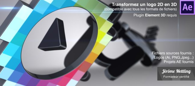 Tuto Transformez proprement un logo 2D en 3D After Effects