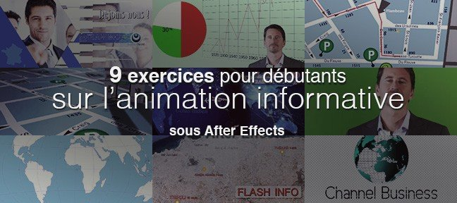 9 exercices After Effects sur l'animation informative