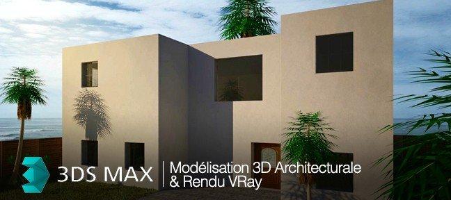 tuto mod lisation 3d architecturale et rendu vray 3 0 dans. Black Bedroom Furniture Sets. Home Design Ideas