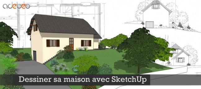 tuto gratuit dessiner sa maison avec sketchup avec. Black Bedroom Furniture Sets. Home Design Ideas