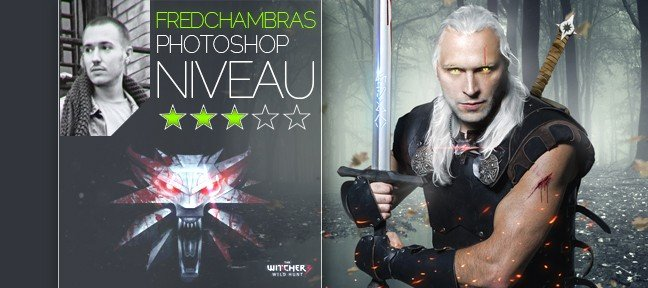 Montage graphique Photoshop : The Witcher
