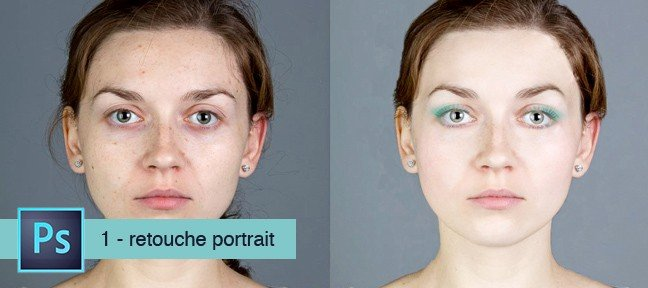 Tuto Atelier Photoshop : Retouche de portrait Photoshop