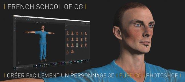tuto cr u00e9ez facilement vos personnages 3d avec fuse cc   avec fuse sur tuto com