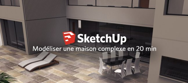 tuto cr er une maison 3d complexe partir de son plan en 20 minutes avec sketchup 2016 sur. Black Bedroom Furniture Sets. Home Design Ideas