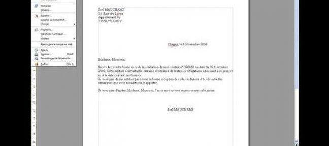 Enregistrer un document Writer