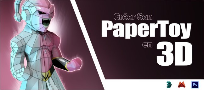 Tuto Créer son Paper Toy 3D Low Poly 3ds Max