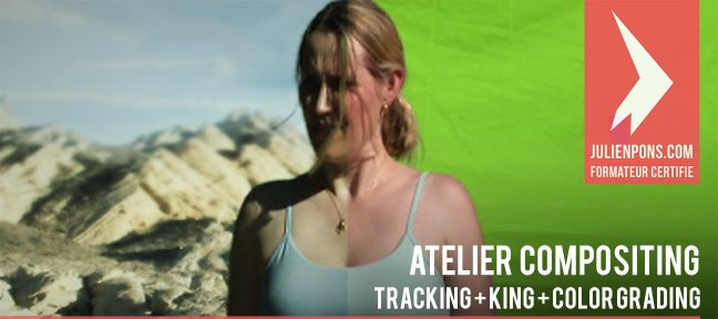 Compositing fond vert + tracking + couleur