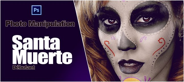 Tuto Photoshop Manipulation Photo : Peinture Santa Muerte Photoshop