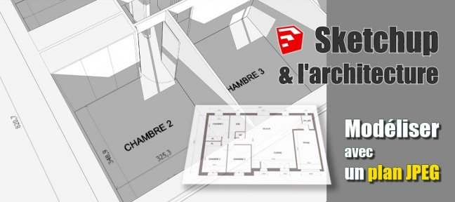 plan appartement avec sketchup