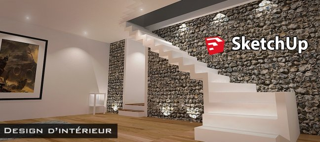Tuto design d 39 int rieur dans sketchup vol1 avec sketchup for Formation design interieur
