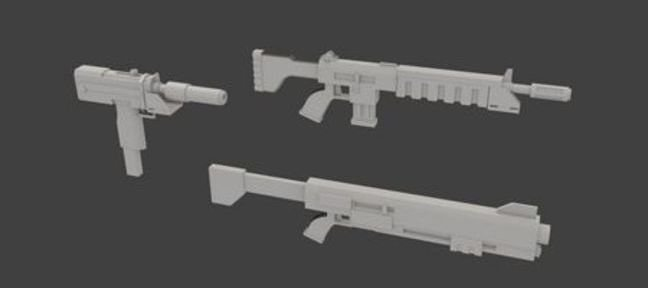 Tuto Modélisation d'armes Low Polygones Blender